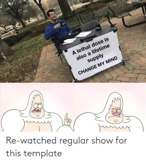 show: Re-watched regular show for this template