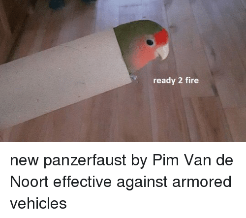 Fire, New, and Van: ready 2 fire new panzerfaust by Pim Van de Noort effective against armored vehicles
