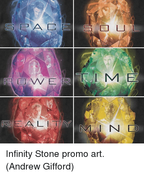 Memes, Infinity, and 🤖: REAL  I N Infinity Stone promo art.  (Andrew Gifford)