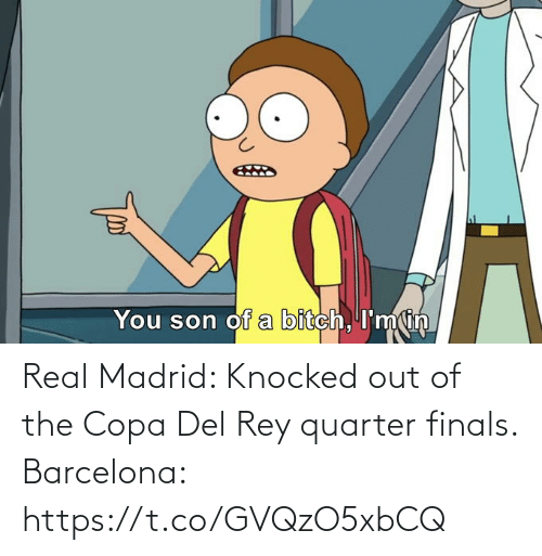 Rey: Real Madrid: Knocked out of the Copa Del Rey quarter finals.  Barcelona: https://t.co/GVQzO5xbCQ