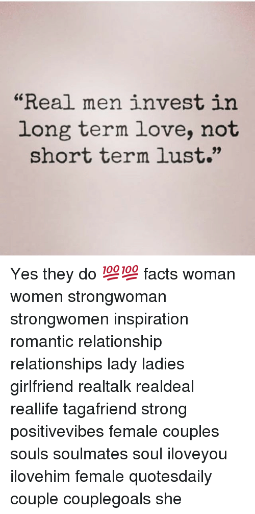 "Lustly: ""Real men invest in  long term love, not  short term lust."" Yes they do 💯💯 facts woman women strongwoman strongwomen inspiration romantic relationship relationships lady ladies girlfriend realtalk realdeal reallife tagafriend strong positivevibes female couples souls soulmates soul iloveyou ilovehim female quotesdaily couple couplegoals she"