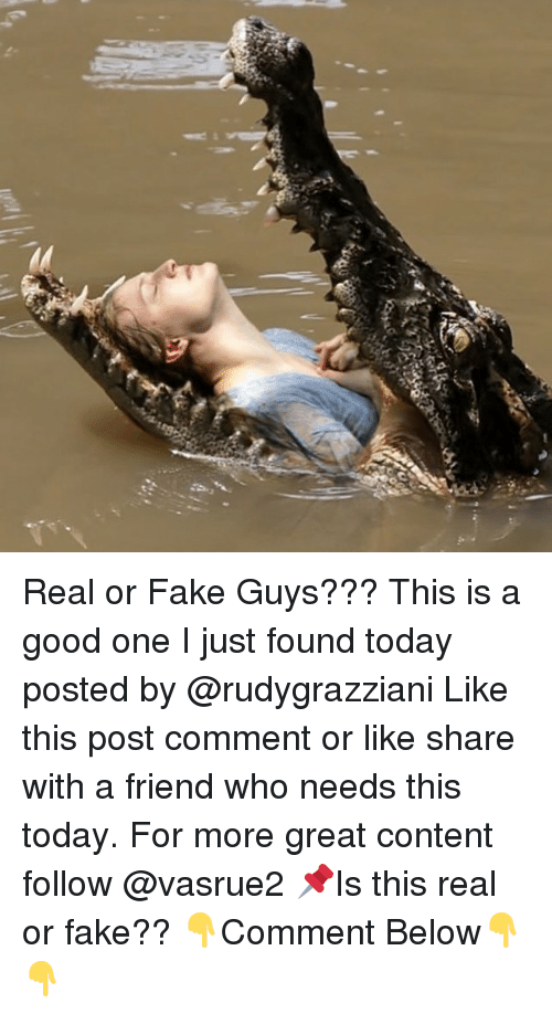 Fake, Memes, and Good: Real or Fake Guys??? This is a good one I just found today posted by @rudygrazziani Like this post comment or like share with a friend who needs this today. For more great content follow @vasrue2 📌Is this real or fake?? 👇Comment Below👇👇
