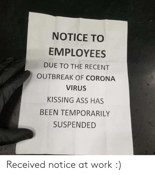 at-work: Received notice at work :)