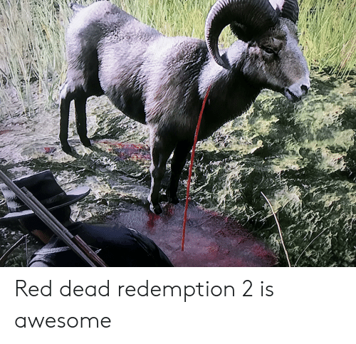 Awesome, Red Dead Redemption, and Red Dead: Red dead redemption 2 is awesome