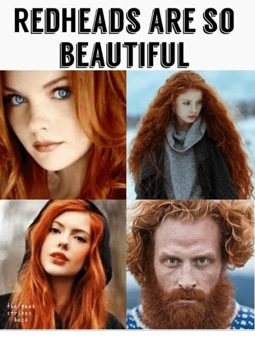 Beautiful, Game of Thrones, and Geek: REDHEADS ARE SO  BEAUTIFUL  the geek