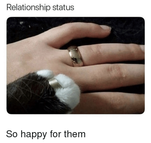 Happy, Relationship Status, and Them: Relationship status So happy for them
