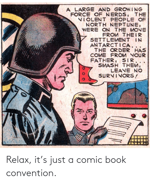 Book: Relax, it's just a comic book convention.