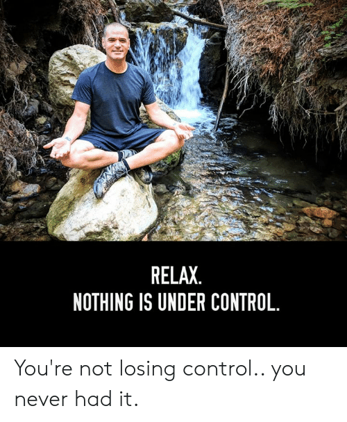dec3efafb88 RELAX NOTHING IS UNDER CONTROL You re Not Losing Control You Never ...
