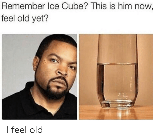 Ice Cube, Old, and Ice: Remember Ice Cube? This is him now  feel old yet? I feel old