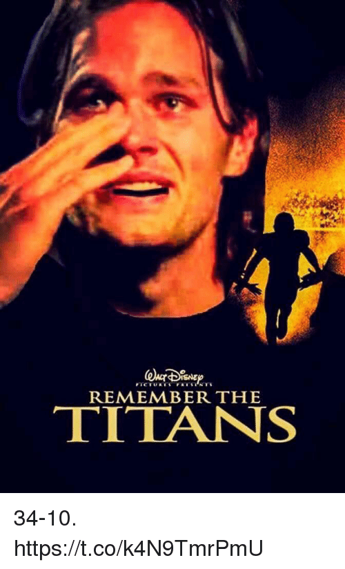 Football, Nfl, and Sports: REMEMBER THE  TITANS 34-10. https://t.co/k4N9TmrPmU