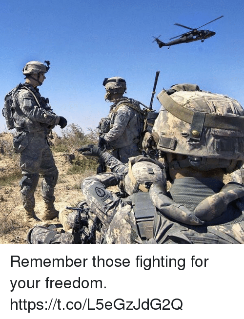 Memes, Freedom, and 🤖: Remember those fighting for your freedom. https://t.co/L5eGzJdG2Q