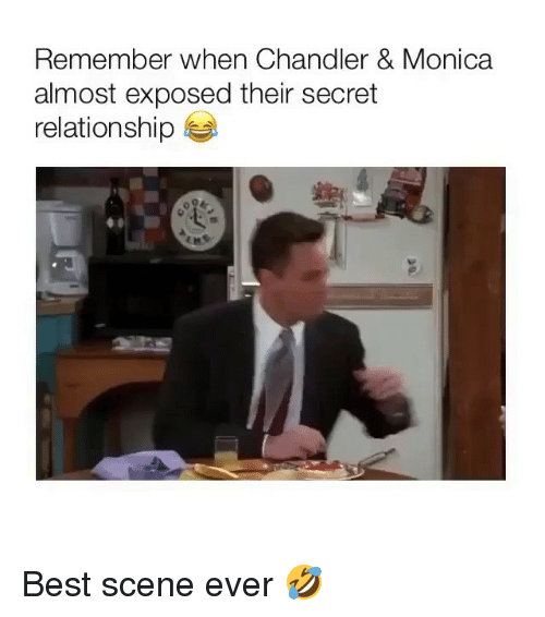 Memes, Best, and 🤖: Remember when Chandler & Monica  almost exposed their secret  relationship Best scene ever 🤣