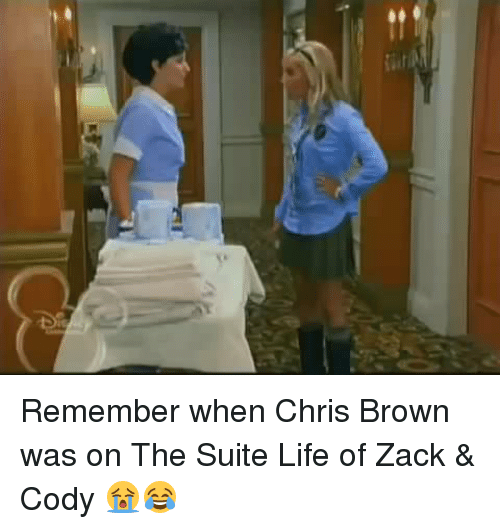 Chris Brown, Memes, and The Suite Life of Zack & Cody: Remember when Chris Brown was on The Suite Life of Zack & Cody 😭😂
