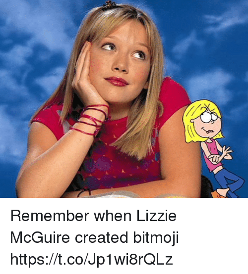 Girl Memes, Lizzie McGuire, and Remember: Remember when Lizzie McGuire created bitmoji https://t.co/Jp1wi8rQLz