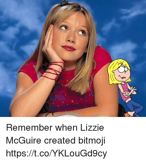 Funny, Lizzie McGuire, and Remember: Remember when Lizzie McGuire created bitmoji https://t.co/YKLouGd9cy