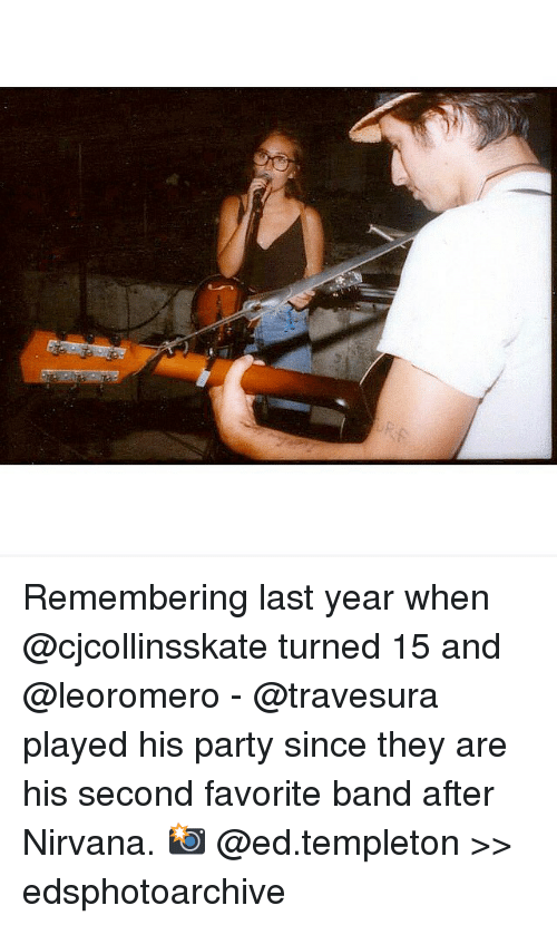 Favorite Band: Remembering last year when @cjcollinsskate turned 15 and @leoromero - @travesura played his party since they are his second favorite band after Nirvana. 📸 @ed.templeton >> edsphotoarchive