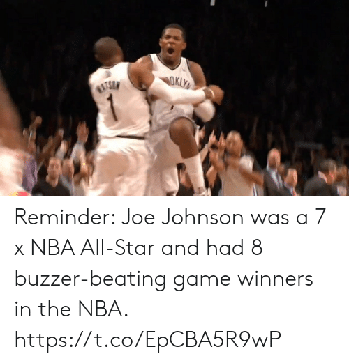 All Star, Memes, and Nba: Reminder: Joe Johnson was a 7 x NBA All-Star and had 8 buzzer-beating game winners in the NBA.   https://t.co/EpCBA5R9wP