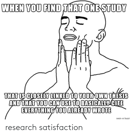 satisfaction: research satisfaction