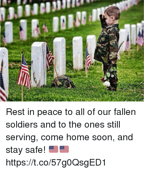 Memes, Soldiers, and Soon...: Rest in peace to all of our fallen soldiers and to the ones still serving, come home soon, and stay safe! 🇺🇸🇺🇸 https://t.co/57g0QsgED1