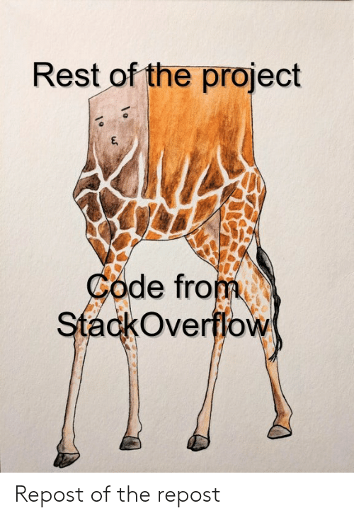 Rest, Code, and Project: Rest of the project  Code from  StackOverffow Repost of the repost