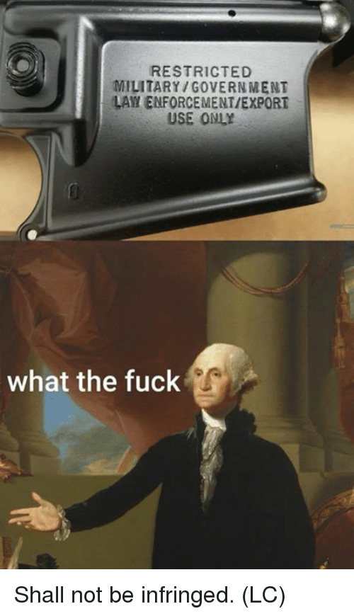 Memes, Fuck, and Military: RESTRICTED  MILITARY/GOVERNMENT  LAY ENFORCEMENT/EXPORT  USE ONLY  what the fuck Shall not be infringed. (LC)