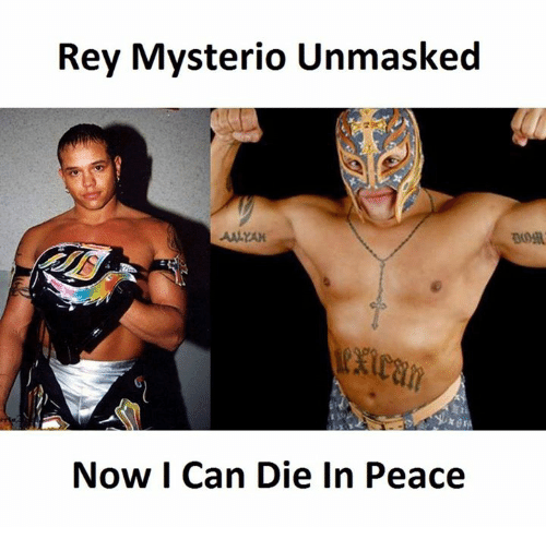 Rey Mysterio, Reyes, and Dying: Rey Mysterio Unmasked  AALYAM  Now Can Die in Peace