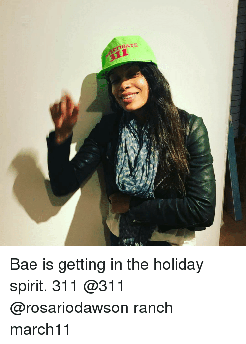holiday spirit: ric Bae is getting in the holiday spirit. 311 @311 @rosariodawson ranch march11