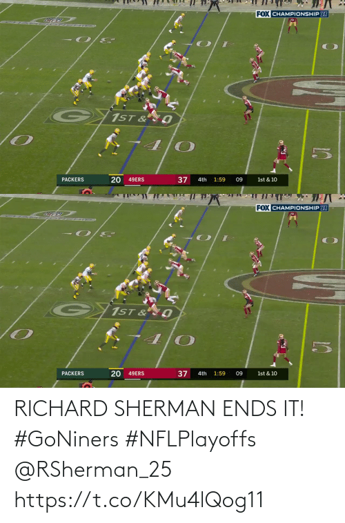 🤖: RICHARD SHERMAN ENDS IT! #GoNiners #NFLPlayoffs @RSherman_25 https://t.co/KMu4lQog11