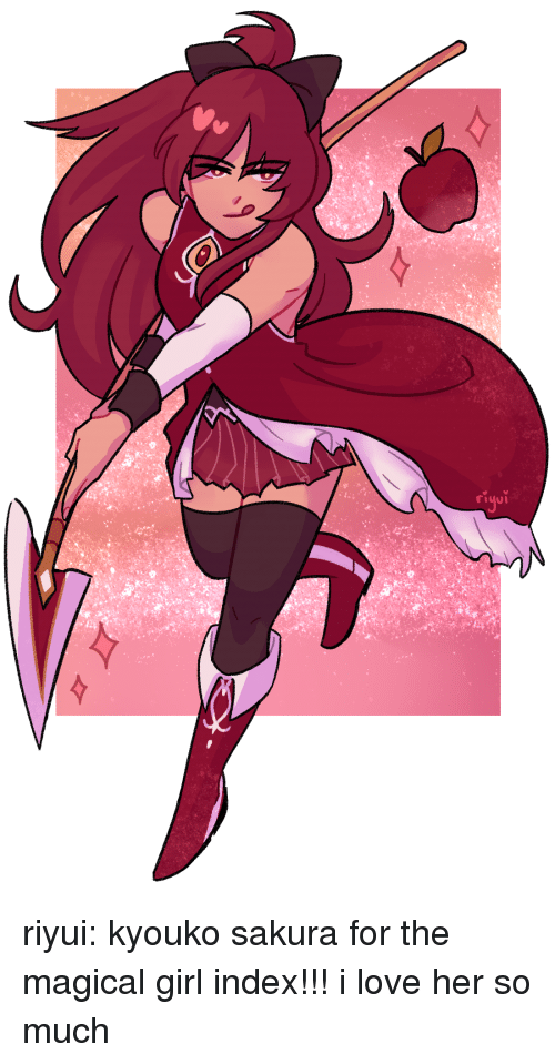 Love, Target, and Tumblr: riyui:  kyouko sakura for the magical girl index!!! i love her so much