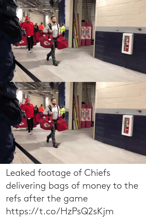 bags: RK Leaked footage of Chiefs delivering bags of money to the refs after the game https://t.co/HzPsQ2sKjm