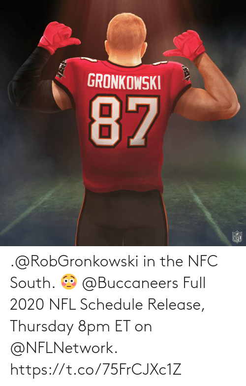 nflnetwork: .@RobGronkowski in the NFC South. 😳 @Buccaneers  Full 2020 NFL Schedule Release, Thursday 8pm ET on @NFLNetwork. https://t.co/75FrCJXc1Z