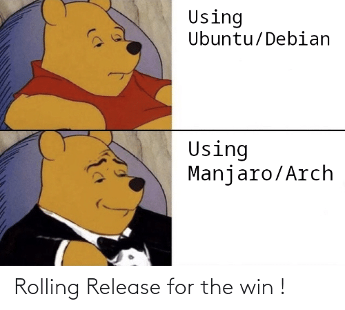 rolling: Rolling Release for the win !