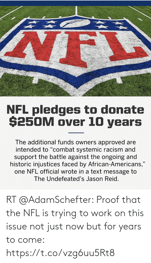 Trying: RT @AdamSchefter: Proof that the NFL is trying to work on this issue not just now but for years to come: https://t.co/vzg6uu5Rt8