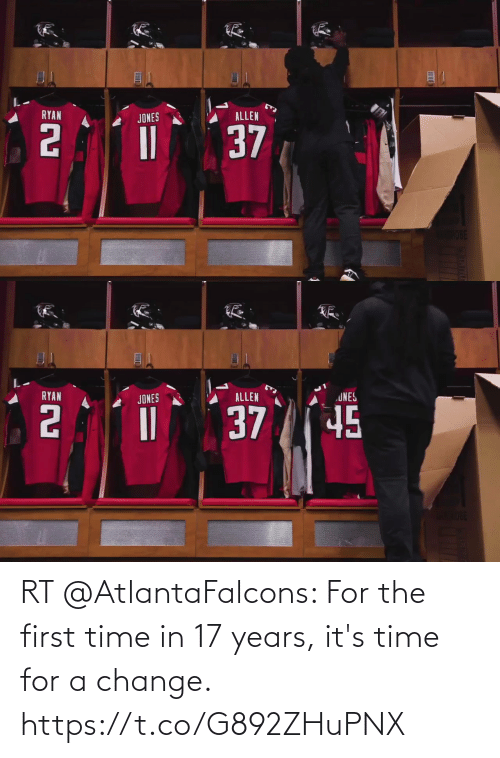 17 years: RT @AtlantaFalcons: For the first time in 17 years, it's time for a change. https://t.co/G892ZHuPNX