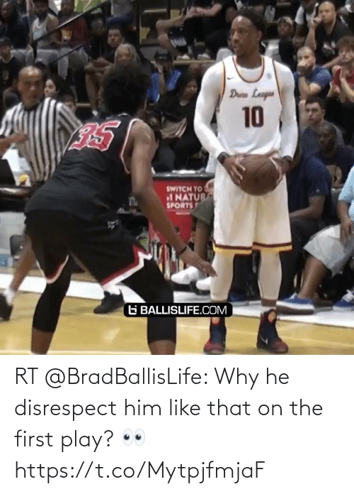 The First: RT @BradBallisLife: Why he disrespect him like that on the first play? 👀  https://t.co/MytpjfmjaF