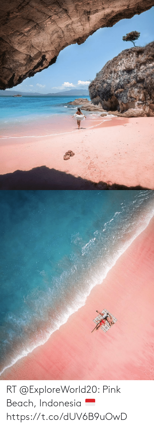 Indonesia: RT @ExploreWorld20: Pink Beach, Indonesia 🇮🇩 https://t.co/dUV6B9uOwD