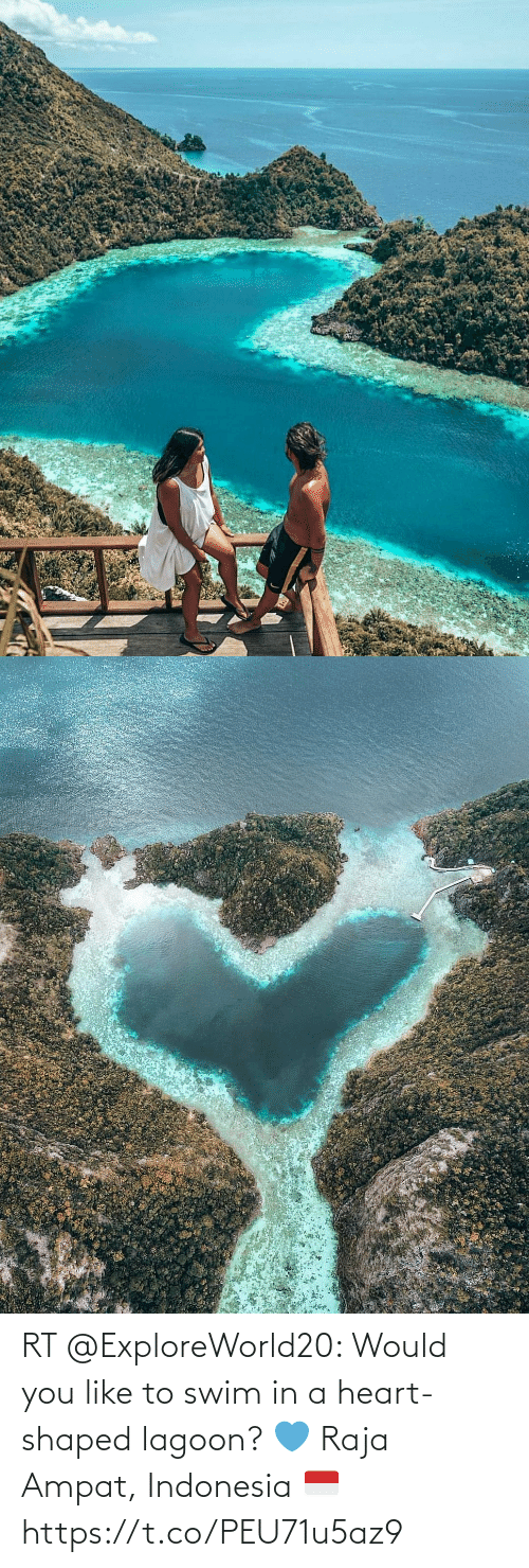 Indonesia: RT @ExploreWorld20: Would you like to swim in a heart-shaped lagoon? 💙 Raja Ampat, Indonesia 🇮🇩 https://t.co/PEU71u5az9