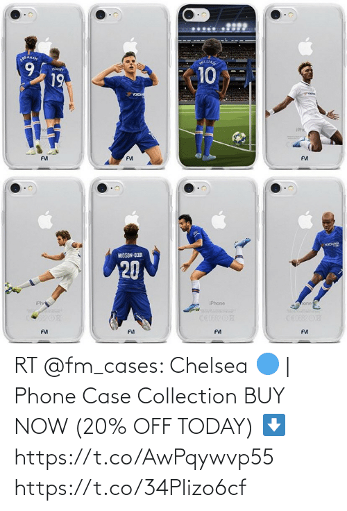 Buy: RT @fm_cases: Chelsea 🔵 | Phone Case Collection  BUY NOW (20% OFF TODAY) ⬇️ https://t.co/AwPqywvp55 https://t.co/34Plizo6cf
