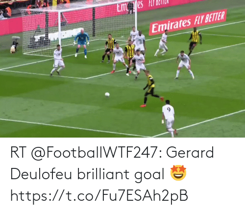 Goal: RT @FootballWTF247: Gerard Deulofeu brilliant goal 🤩 https://t.co/Fu7ESAh2pB