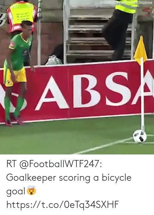 Goal: RT @FootballWTF247: Goalkeeper scoring a bicycle goal🤯  https://t.co/0eTq34SXHF
