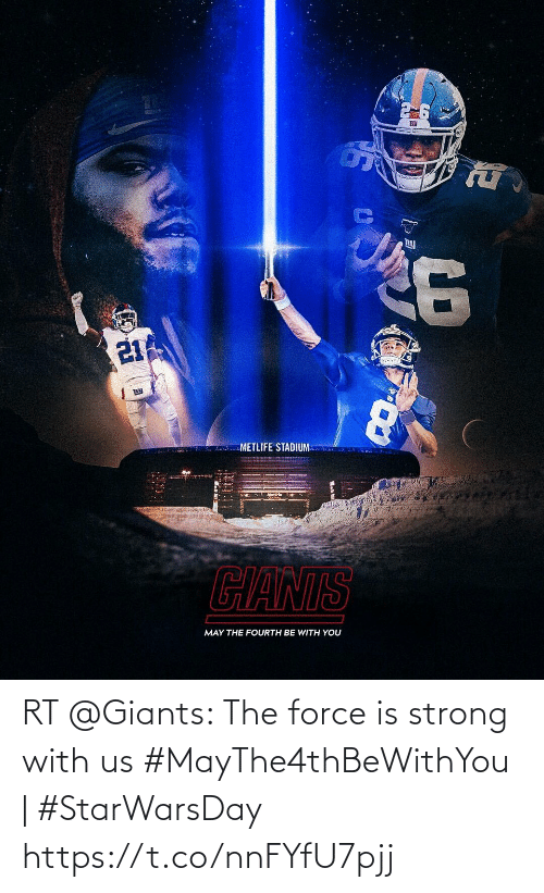 Force Is Strong: RT @Giants: The force is strong with us  #MayThe4thBeWithYou | #StarWarsDay https://t.co/nnFYfU7pjj