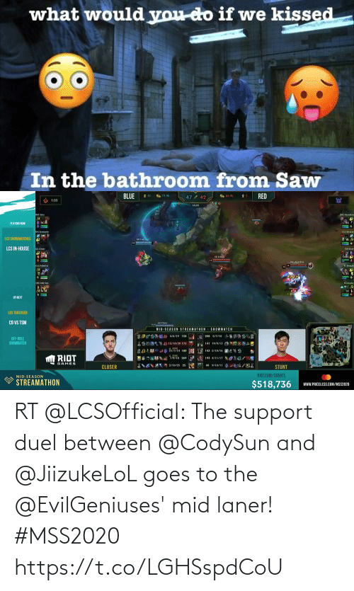 Goes: RT @LCSOfficial: The support duel between @CodySun and @JiizukeLoL goes to the @EvilGeniuses' mid laner! #MSS2020 https://t.co/LGHSspdCoU