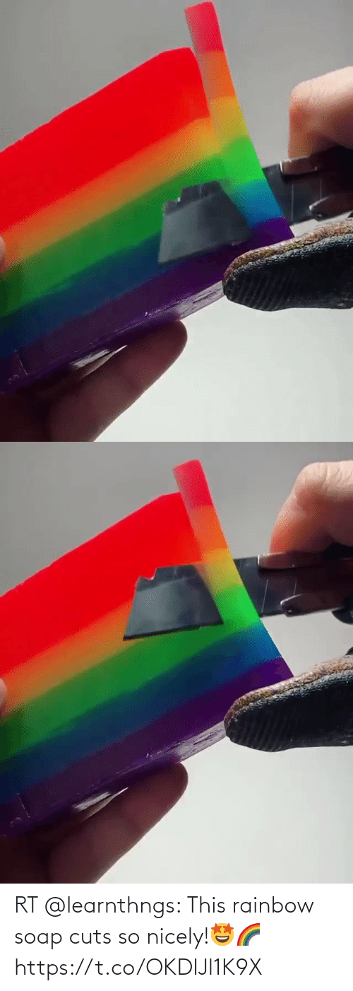 Rainbow: RT @learnthngs: This rainbow soap cuts so nicely!🤩🌈 https://t.co/OKDIJl1K9X