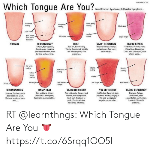 are you: RT @learnthngs: Which Tongue Are You 👅 https://t.co/6Srqq1OO5l