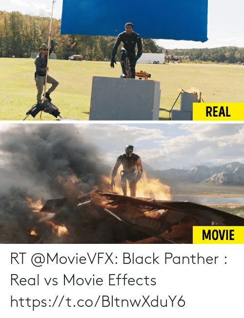 Black Panther: RT @MovieVFX: Black Panther : Real vs Movie Effects https://t.co/BItnwXduY6