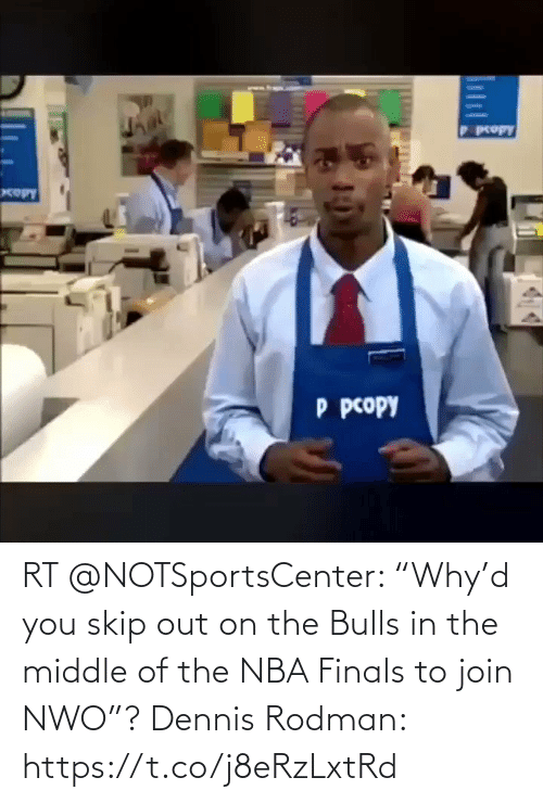 "The Middle: RT @NOTSportsCenter: ""Why'd you skip out on the Bulls in the middle of the NBA Finals to join NWO""?  Dennis Rodman: https://t.co/j8eRzLxtRd"