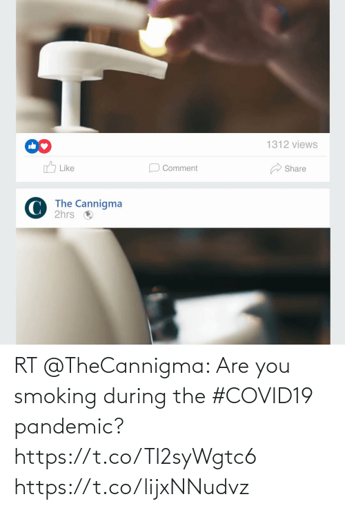 are you: RT @TheCannigma: Are you smoking during the #COVID19 pandemic?  https://t.co/TI2syWgtc6 https://t.co/lijxNNudvz