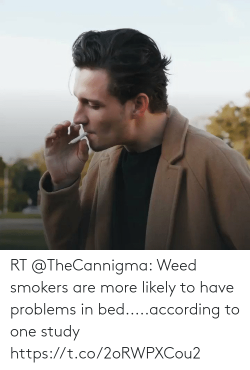 According: RT @TheCannigma: Weed smokers are more likely to have problems in bed.....according to one study https://t.co/2oRWPXCou2