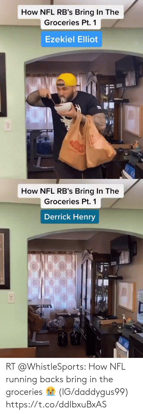 Running: RT @WhistleSports: How NFL running backs bring in the groceries 😭  (IG/daddygus99) https://t.co/ddIbxuBxAS