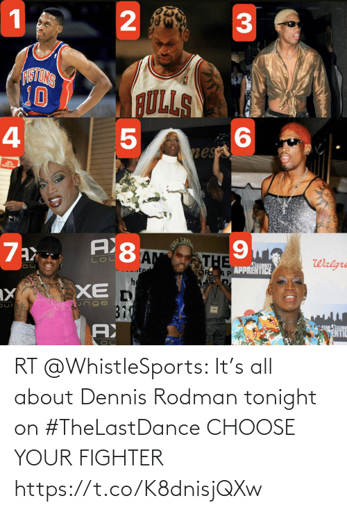 Choose Your: RT @WhistleSports: It's all about Dennis Rodman tonight on #TheLastDance   CHOOSE YOUR FIGHTER https://t.co/K8dnisjQXw